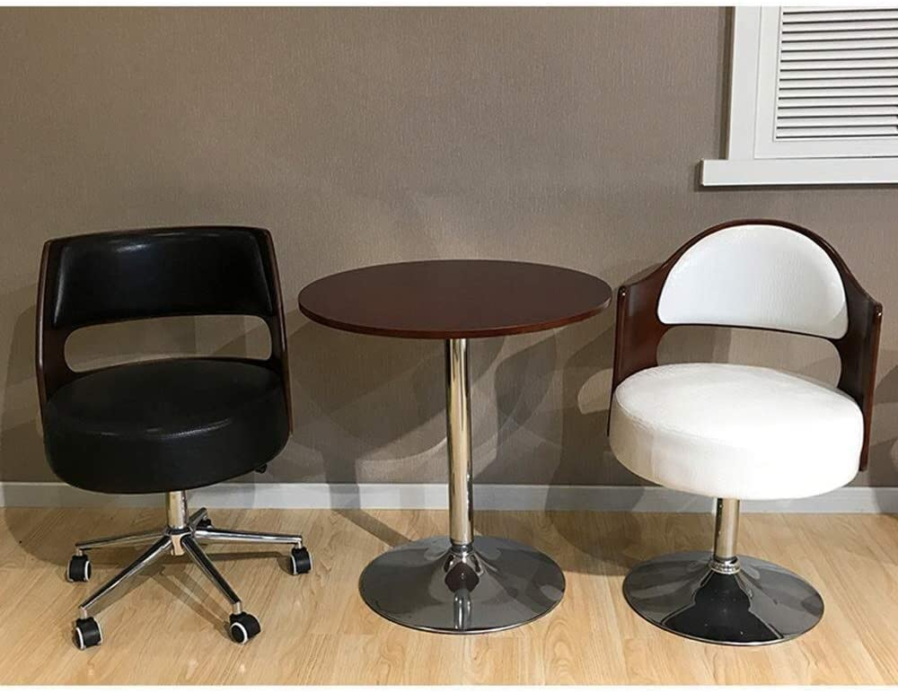 Aoyo Chaise de Bureau, réception pivotante Peut soulever Une Chaise pivotante à 360 ° Chaise de Salle à Manger café thé Balustrade Cuisine Salon étanche (Color : Red) Black-2