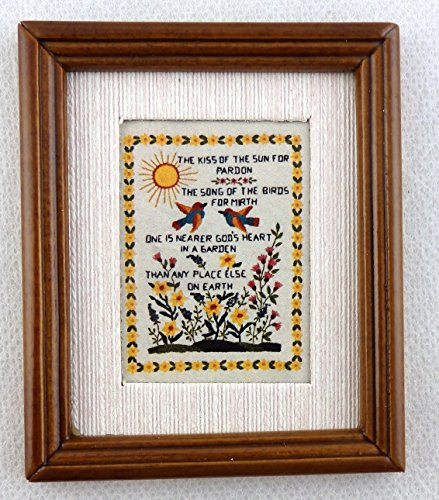 Melody Jane Poupées Miniature Sampler The Kiss of The Sun Image en Cadre