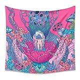 Psychedelische Hexerei Mandala Tapisserie Wandbehang Hippie Fantasy Wandteppich psychedelischer Wandteppich dekorativer Teppich A2 150x200cm