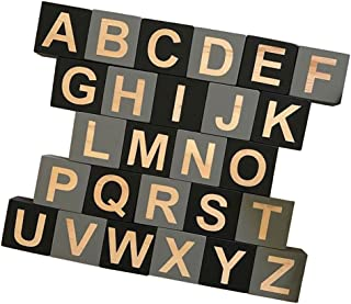 Baoblaze 26 Kids Education Toy English Letter Wooden Embellishenment Kids Play Games Toy Letter Craft e