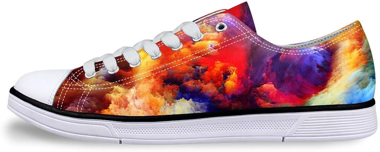 Mumeson Stylish Sky Print Unisex Canvas Sneaker Casual Walking shoes for Women Men