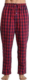 LANBAOSI Mens Pyjama Bottoms Plaid Cotton Lounge Pants Super Soft Comfy Trousers Pjs Nightwear Sleepwear with Pockets