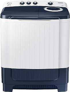 Samsung 8.5 Kg Semi-Automatic 5 Star Top Loading Washing Machine (WT85R4200LL/TL, Light Grey, Royal Blue Lid (Transparen...