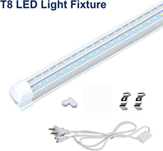 CNSUNWAY LIGHTING 1FT LED Shop Light, 6W, 6000K Cool White, Plug and Play, V Shape LED Tube Light