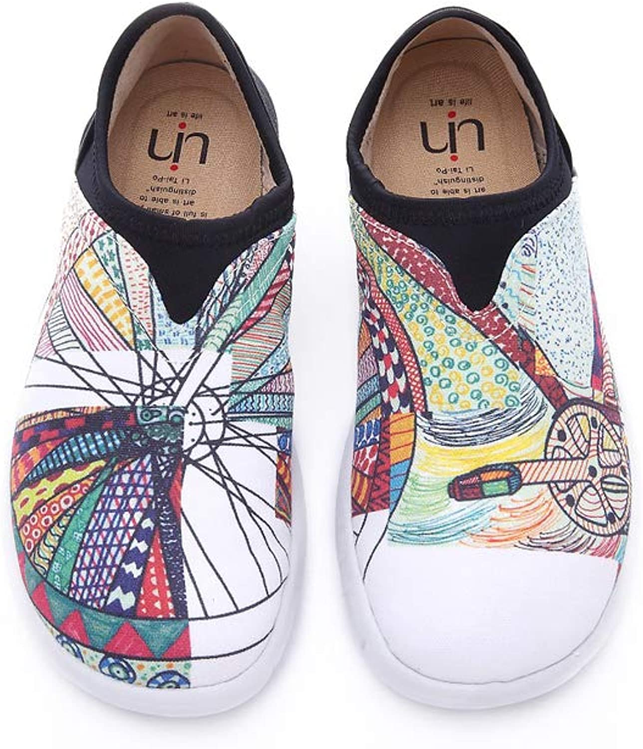 UIN Women's Wheel Canvas Printed Slip On shoes Multicolor