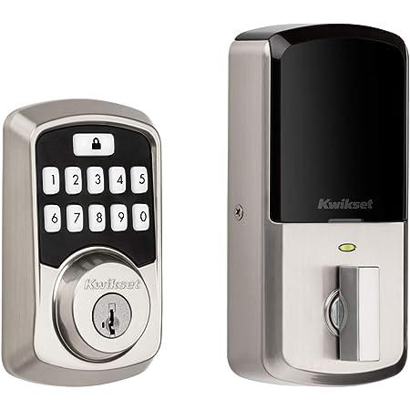 Kwikset 99420-001 Aura Bluetooth Programmable Keypad Door Lock Deadbolt Featuring SmartKey Security, Satin Nickel