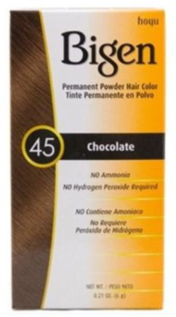 Bigen Permanent Powder Hair Color 45 Chocolate Lowest price challenge 8 of ea Branded goods Pack 1