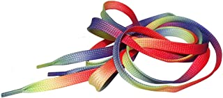 Rainbow Pride Multi Coloured Rainbow Flat Shoe Laces For Trainers Skate Shoes, Hi Tops, Shoes Boots Converse Nikes Converse Pumas Shoelaces Laces are 10mm wide