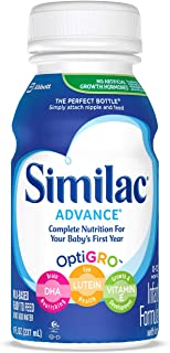 Similac Advance Infant Formula with Iron, Baby Formula, Ready to Feed, 8 fl oz (Pack of 24)