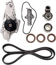 Engine Timing Belt Kit with Water Pump for 2003-2017 Honda Accord Crosstour Pilot Odyssey Ridgeline Acura MDX RDX RL TL TSX ZDX Replace # TCKWP329 TKH-002 TKH002