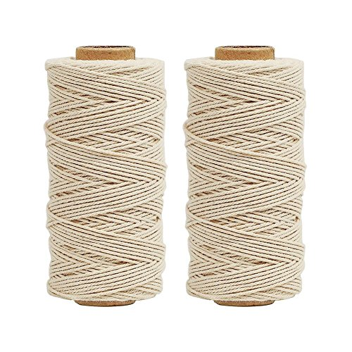 Tenn Well Cooking String, 656 Feet Food Safe Kitchen Cotton String for Trussing Tying Poultry Meat Making Sausage (2PCS X 328 Feet)