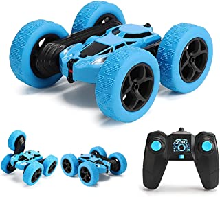 Sponsored Ad – GLOWEE Remote Control Car, 4WD 2.4 Ghz High Speed Electric RC Stunt Car, 360° Double-Side Spinning & Tumbli...