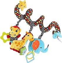 Tomaibaby Juguetes para El Asiento del Automóvil Accesorios de Juguete de Barra de Cochecito de Felpa en Espiral para Actividades de Bebé Juguetes de Cuna para Niño O Niña Juguete Sonajero