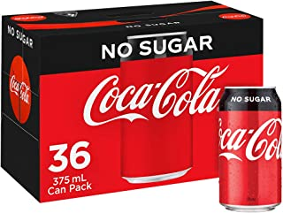 Coca-Cola No Sugar Soft Drink Multipack Cans 36 x 375mL