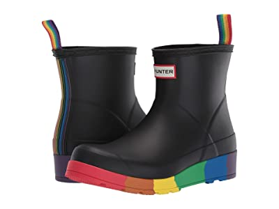 Hunter Play Pride Boot Short (Black) Women