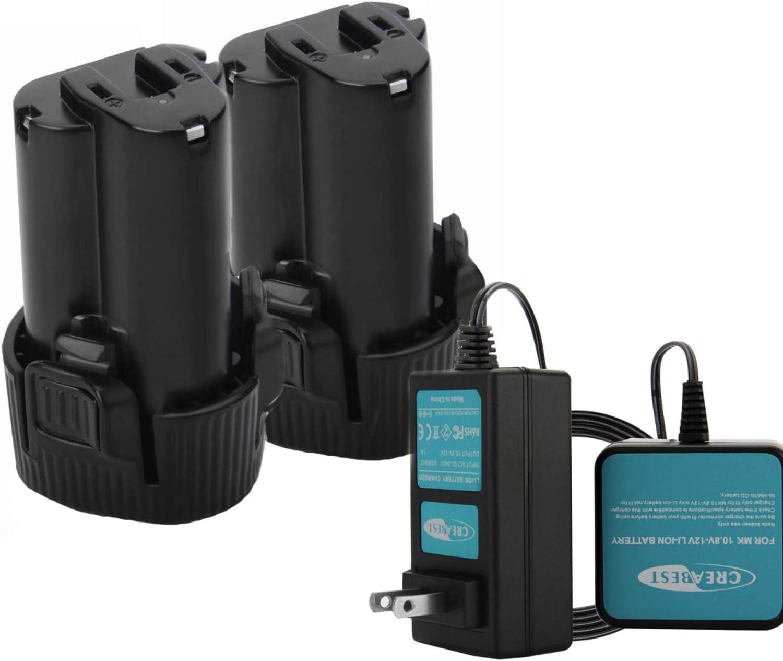 Creabest New 2packs 送料0円 3000mAh Li-ion 10.8V Replacement Batt 安売り BL1014