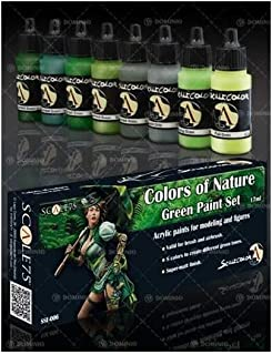 Scale 75 Scale Color Green Paint Set, Colors of Nature.