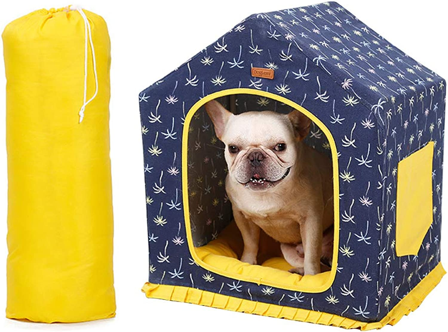 Portable Puppy Dog Cat House, Indoor Pet House Bed con cuscino caldo, Great for Transportation and Short Outings