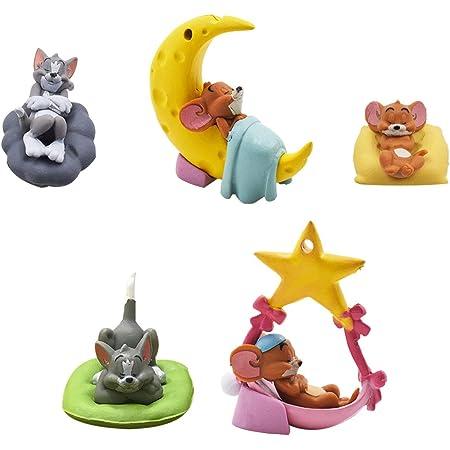 Tom und Jerry Cake Topper Mini Juego de Figuras Niños Mini Juguetes Baby Shower Fiesta de cumpleaños Pastel Decoración Suministros