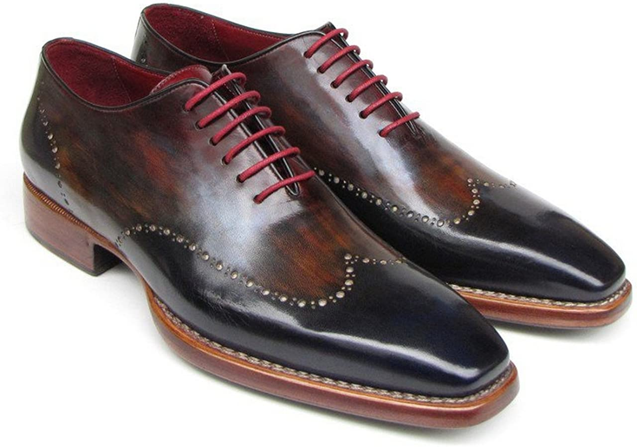 Paul Parkman Mens Wingtip Oxford Goodyear Welted Navy Red Black