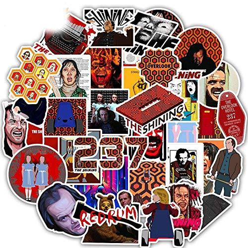 WUWEI Película clásica brillante etiqueta engomada carro de equipaje personalizado doodle etiqueta engomada decoración 50PCS