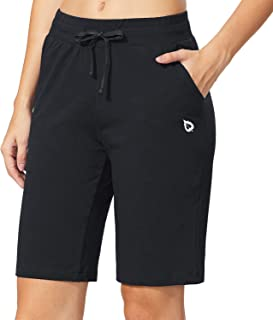 BALEAF Athletic Workout Shorts Bermuda Walking Shorts Lounge Yoga Pajama Sweat Shorts with Pockets Activewear