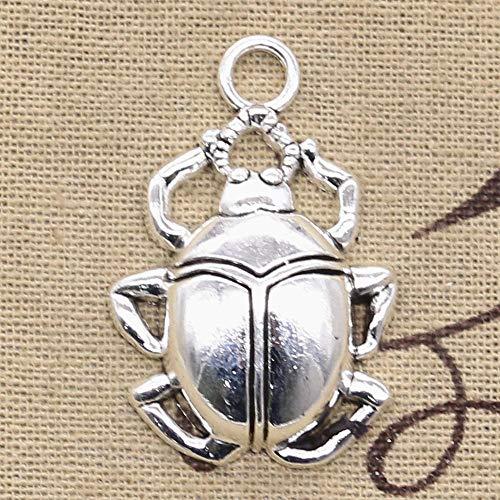 WANM Colgante Charm 2 Uds Encantos Bug Beatles Beetle 40X27Mm Colgantes Chapados En Plata Antigua Que Hacen DIY Hecho A Mano Tibetano Encontrar Joyería Colgante De Aleación