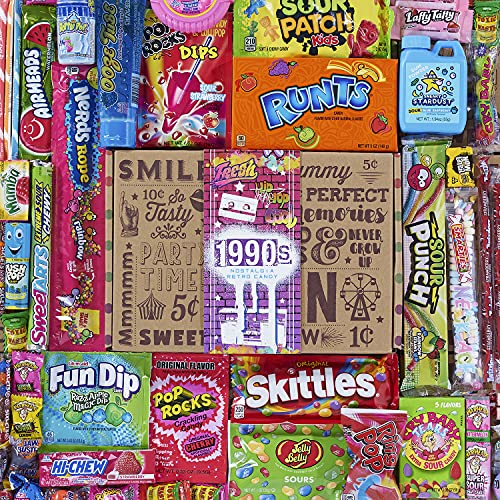 VINTAGE CANDY CO. 1990s RETRO CANDY GIFT BOX - 90s Nostalgia Candies - Flashback NINETIES Fun Gag...