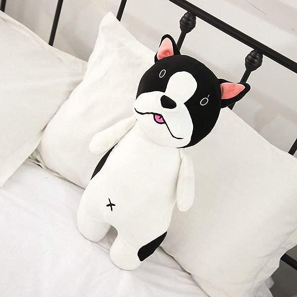 Cute Puppy Dog French Bulldog Plush Pillow Soft Stuffed Animal Play Doll Baby Hugging Toy Sleeping Bolster Pet Throw Pillow Bed Sofa Nap Cushion Nursery Office Home Decor Gift For Kids Boy Girls