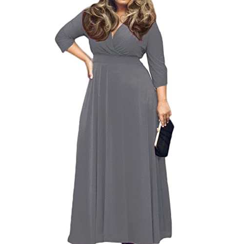 Grey Plus Size Party Dress: Amazon.com