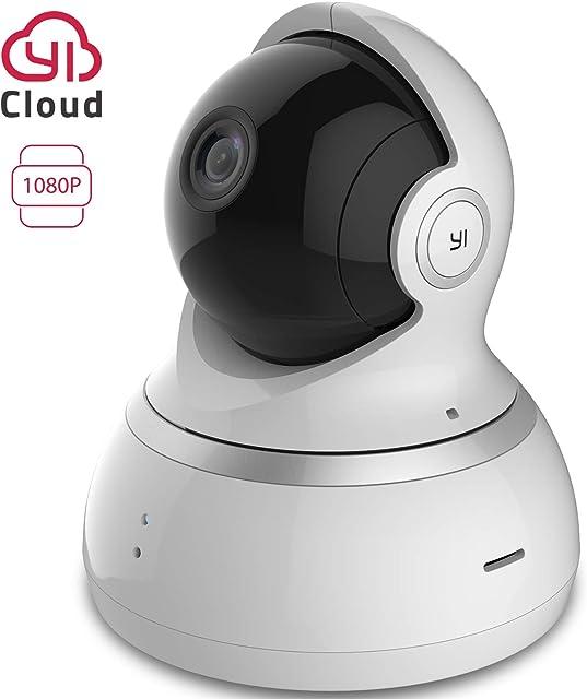 YI Camara Vigilancia 1080p Camara IP Camaras de Vigilancia Wifi Interior 360° Compatible con Alexa Detección de Movimiento Visión Nocturna Audio de 2 Vias y Nube con App para iOS y Android Blanco