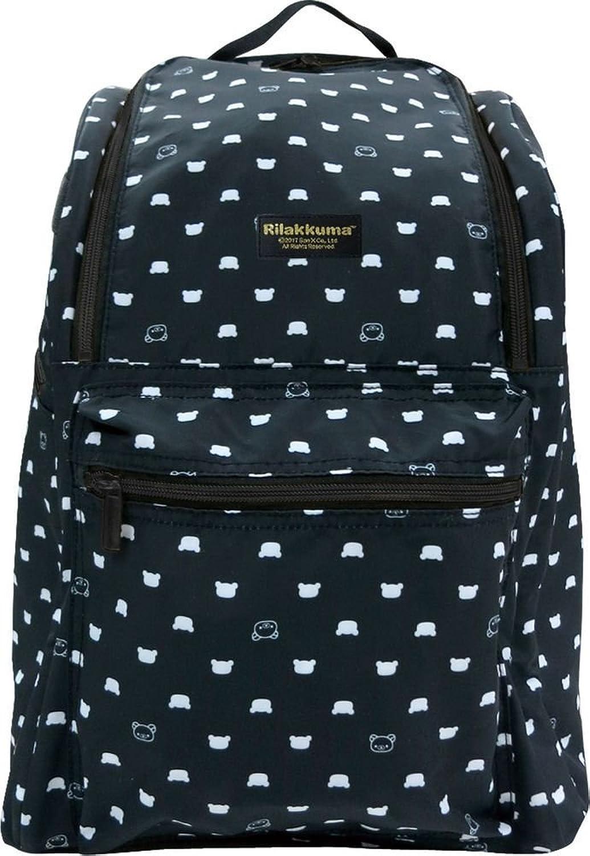 Ai planning Rilakkuma Day bag Backpack Mother Bag Rilakkuma Black White