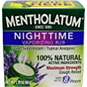 Mentholatum Nighttime Vaporizing Rub 1.76 Oz
