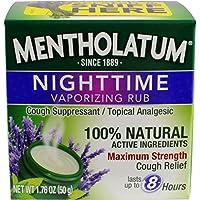 Mentholatum Nighttime Vaporizing Rub with soothing Lavender Essence 1.76 oz. (50 g)