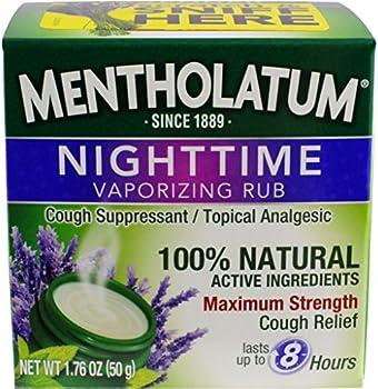 Mentholatum Nighttime Vaporizing Rub 1.76 Oz