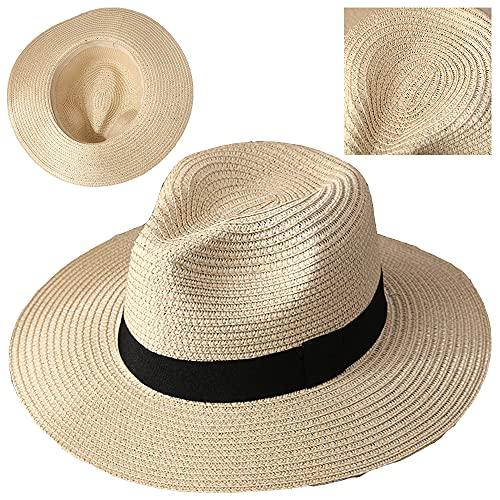 ZffXH Sombrero de paja para el sol de playa de verano Panamá...