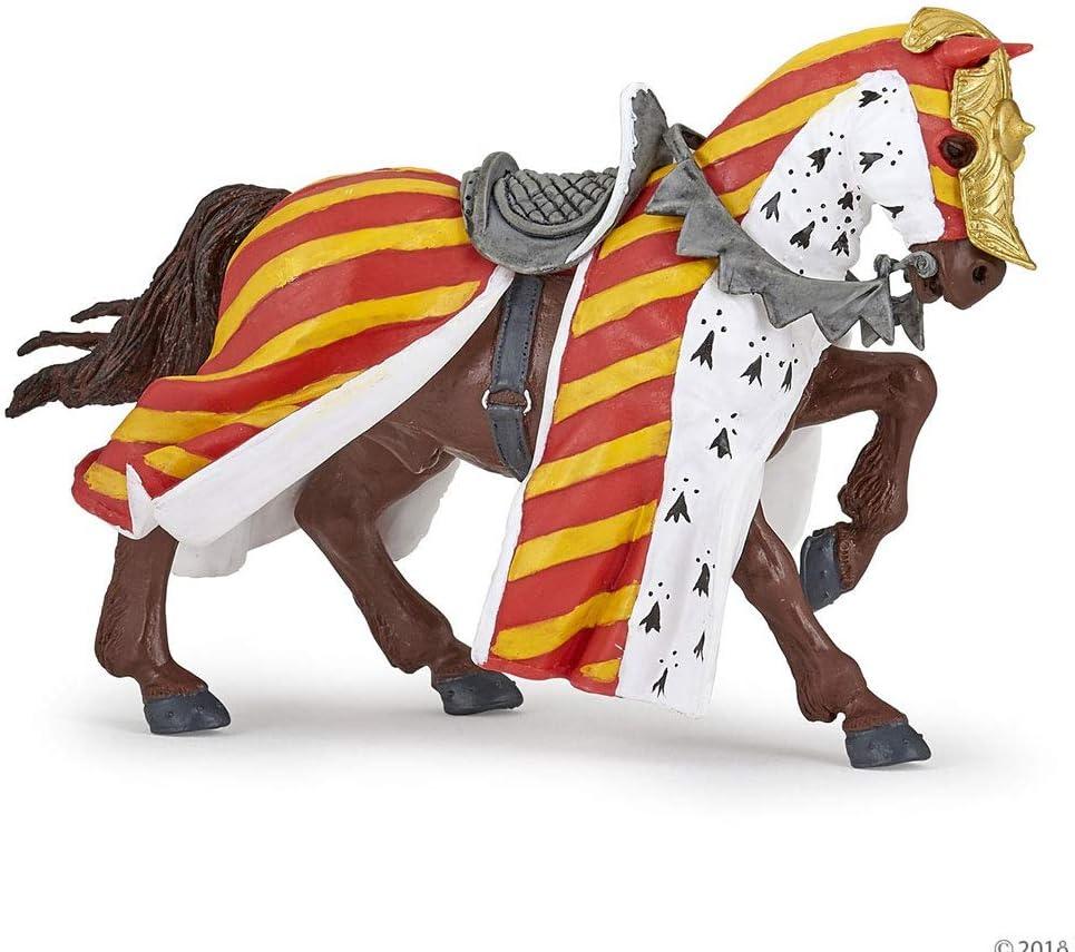 Papo 39945 Torneo Caballo Medieval-Fantasy Figurina, Multicolor
