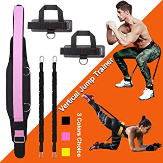 KIKIGOAL Vertical Bounce Trainer Leg Resistance Bands Set-Leg Strength Muscle Workout - for Basketball Football Taekwondo ...