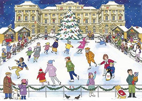 Alison Gardiner tradicional calendario de adviento: Patinaje sobre hielo de Navidad
