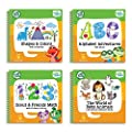 LeapFrog LeapStart Preschool 4-in-1 Activity Book Bundle with ABC, Shapes & Colors, Math, Animals by LeapFrog