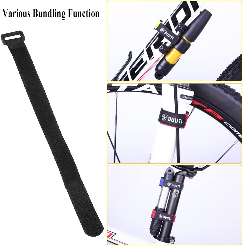 Bnineteenteam 5pcs Hook and Loop Cable Ties Straps,Adjustable Bike Fastening Straps for Bike Bicycle