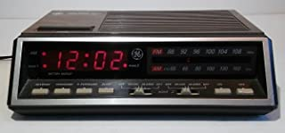 Vintage GE FM/AM Digital Alarm Clock Radio Model 7-4616A Woodgrain Retro