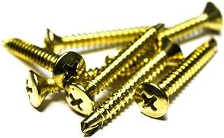 250 10x1-3//8 Phillips Oval Head Screws Self-Drilling Bright Brass