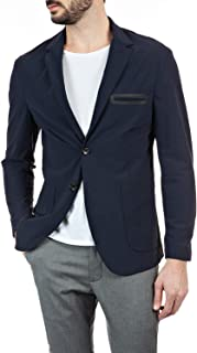 Replay Men's Lapels Evoflex Blazer Regular Fit Blue X-Large