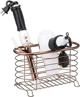 amarillo estante de ba/ño de pl/ástico ABS organizador de almacenamiento para secador de pelo sin perforaciones Soporte para secador de pelo Leikance para montar en la pared