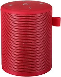 Mini Outdoor Waterproof BT Speaker Portable Stereo Wireless Speakers With Mic TF Card Series Connection Red