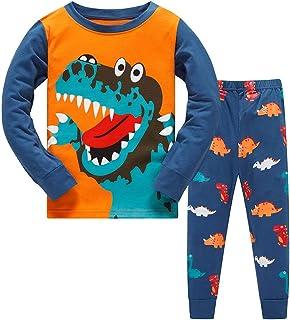 TEDD Pigiama Ragazzo Dinosauro Cotone Lungo Pyjama Sets Vestiti Bambino Invernale Due Pezzi Impostato Natalizio Regalo per...