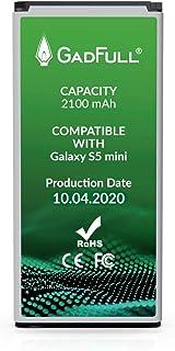 GadFull Batería de reemplazo para Samsung Galaxy S5 Mini | 2020 Fecha de producción | Corresponde al Original EB-BG800BBE | Compatible con SM-G800F | Duos SM-G800H batería de Repuesto