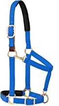 رسن مبطن قابل للتعديل من ويفر ليذر بإبزيم للذقن والحلق قابل للتعديل، مقاس متوسط 2.54 سم للحصان أو سن سنة