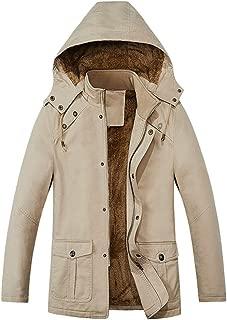 Trench Coat Men Fleece Jacket Hoodie Windbreaker Puffer Parka Jacket Thicke